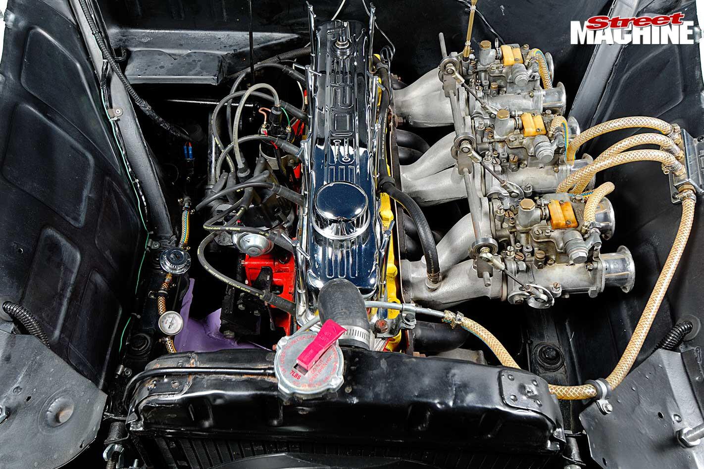 Holden FX gasser engine bay
