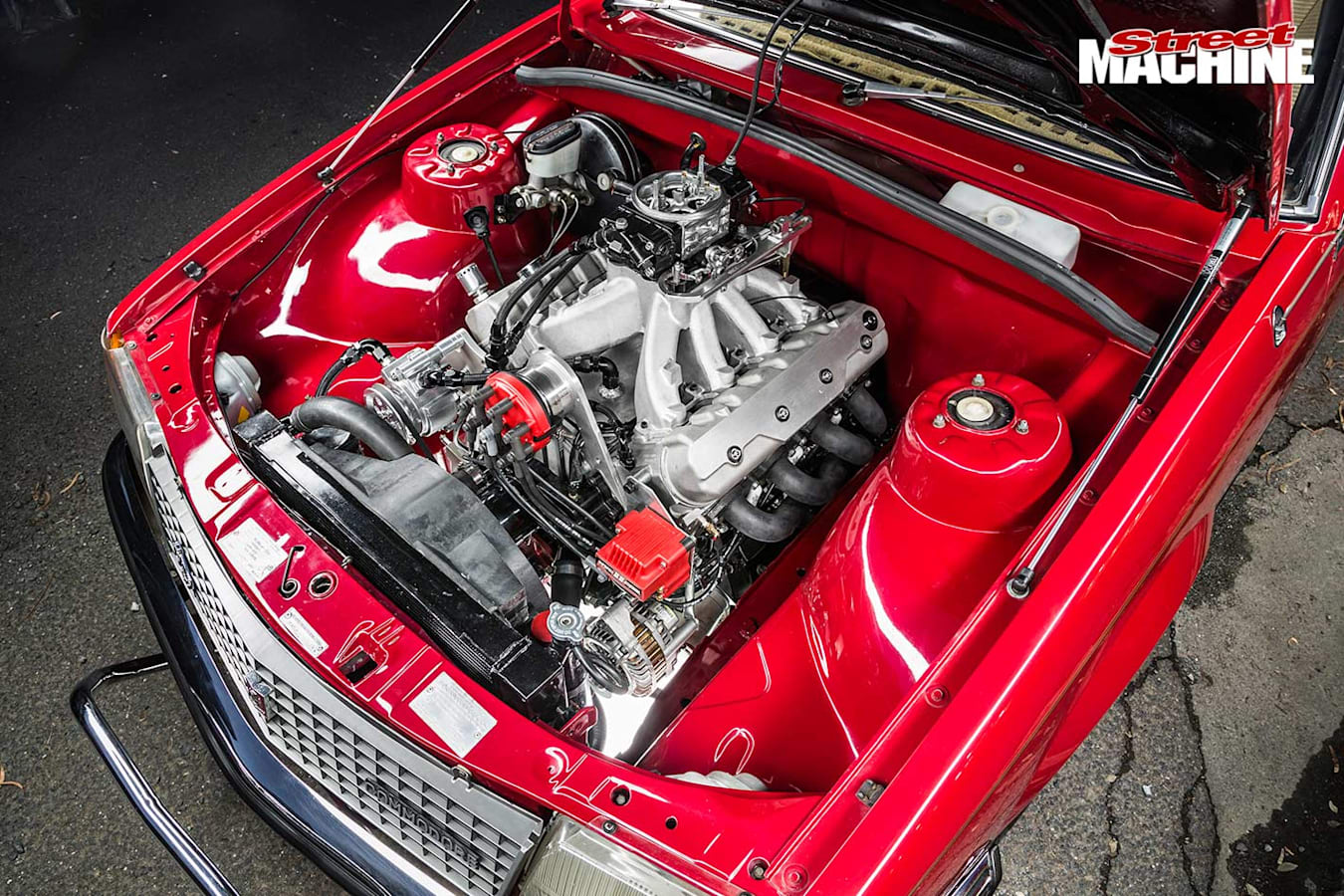 Holden VC Commodore engine bay