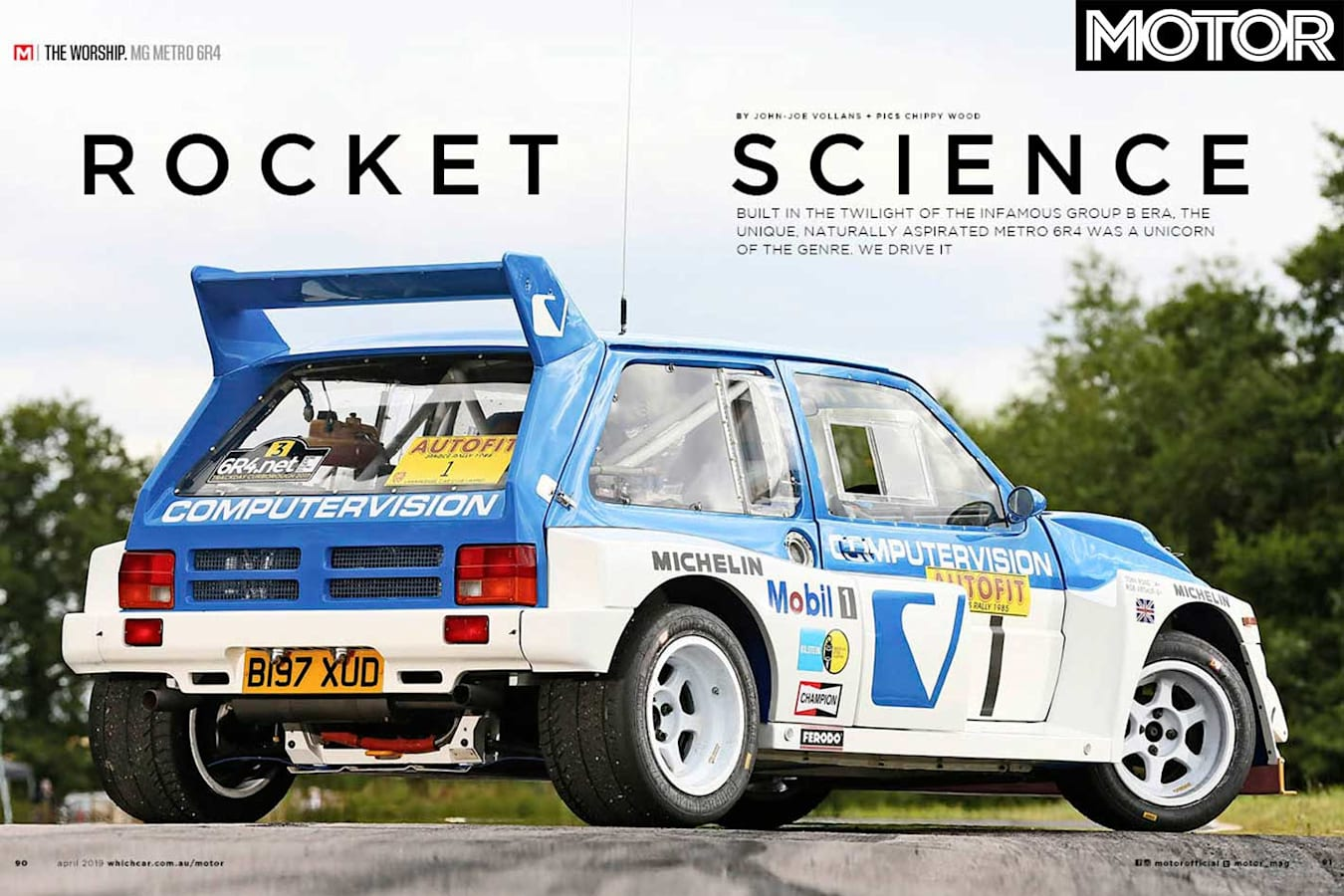MOTOR Magazine April 2019 Issue MG Metro 6 R 4 Group B Rally Car Feature Jpg