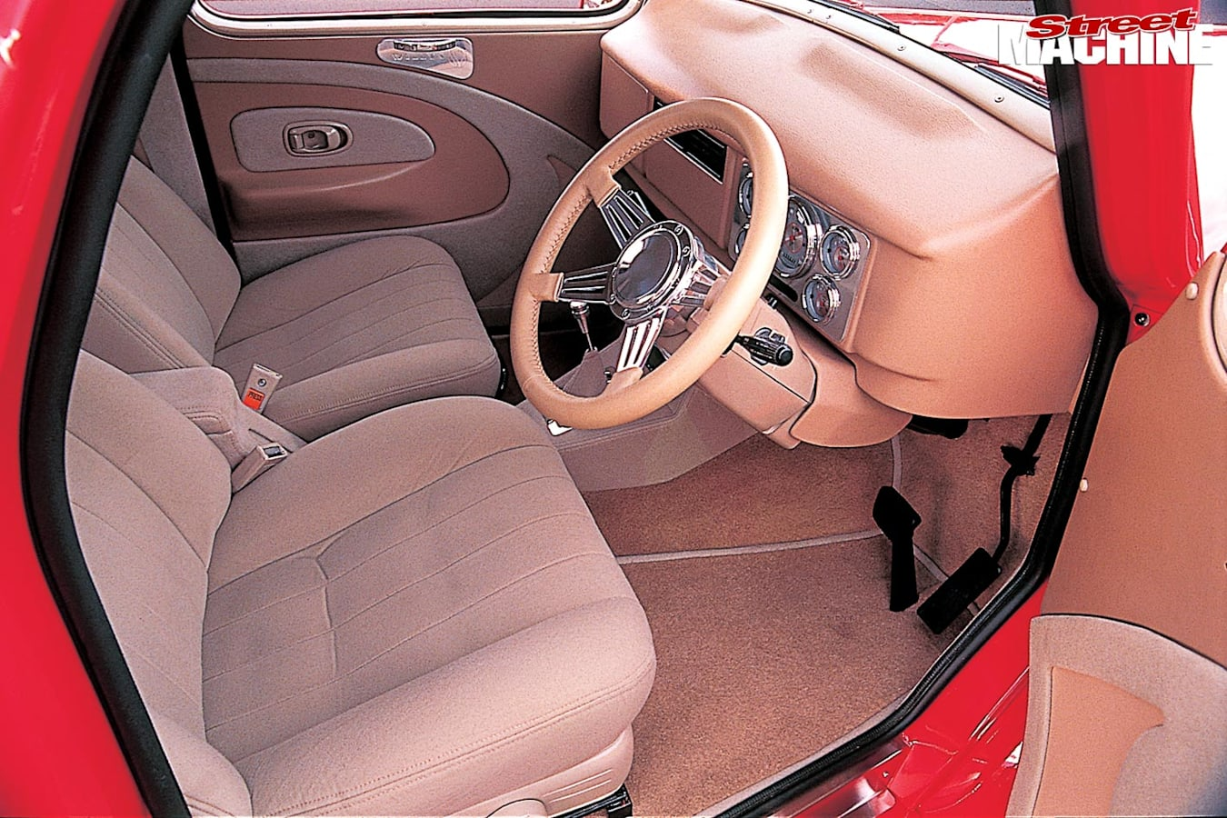 Willys coupe interior front