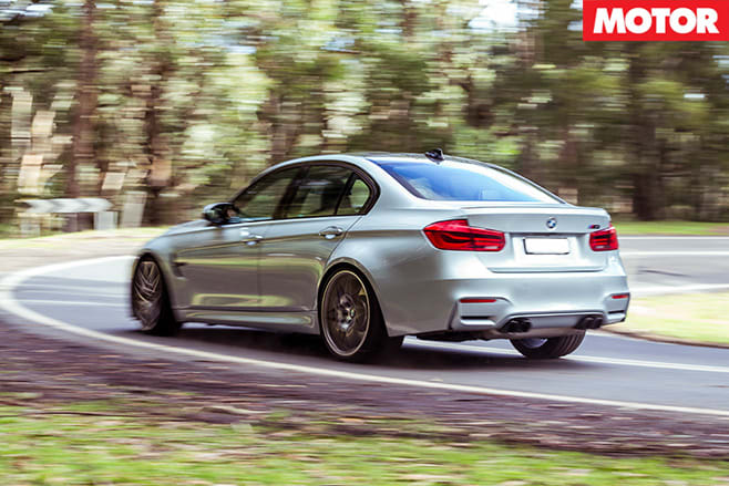 BMW M3 Competition Package rear driving