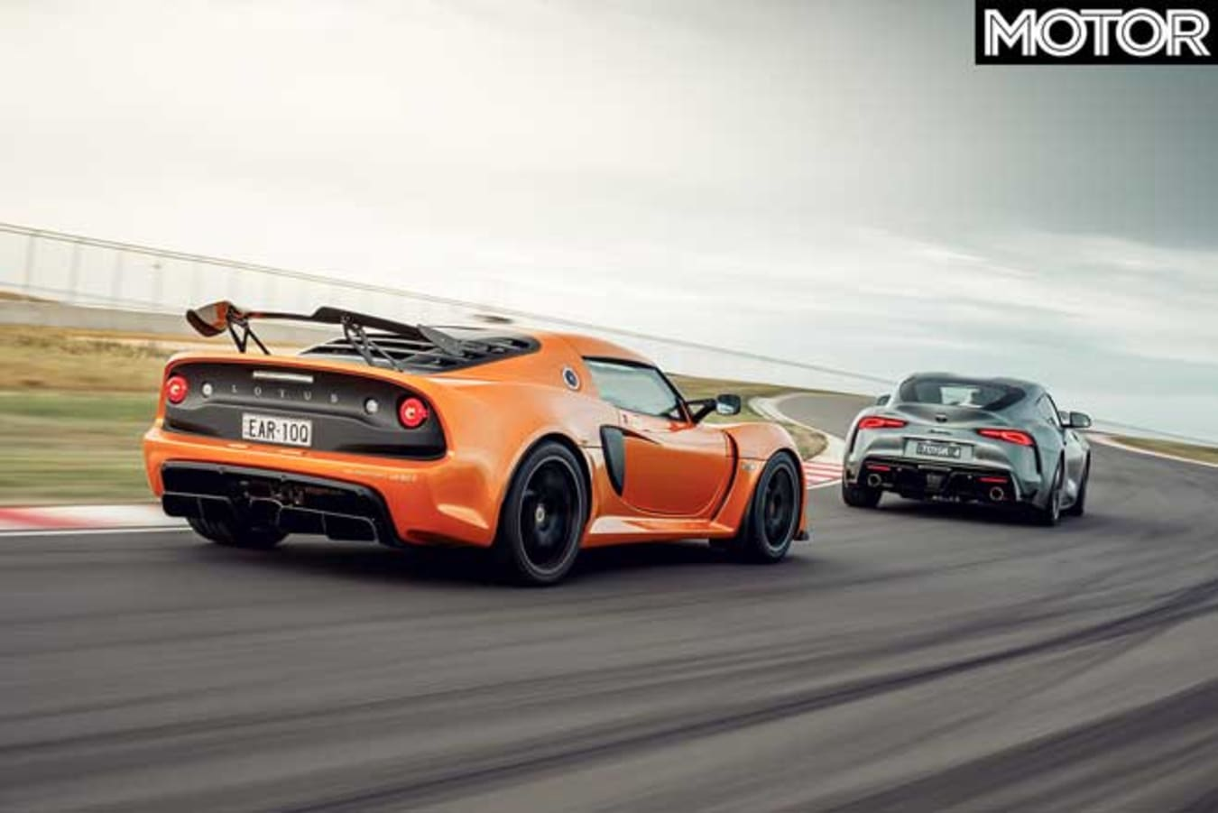 Performance Car Of The Year 2020 Track Test Exige Sport Supra GTS The Bend Jpg