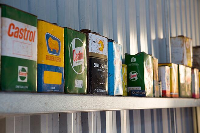 oil tin collection