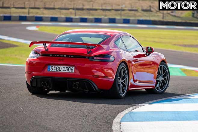 Porsche 718 Cayman GT4 rear design
