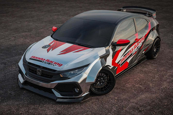 690kW Honda Civic drift car SEMA 2019