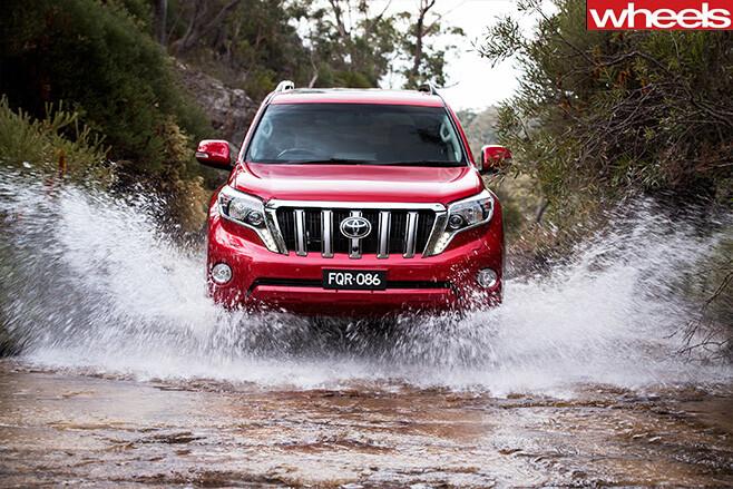 Toyota -prado -driving -through -water