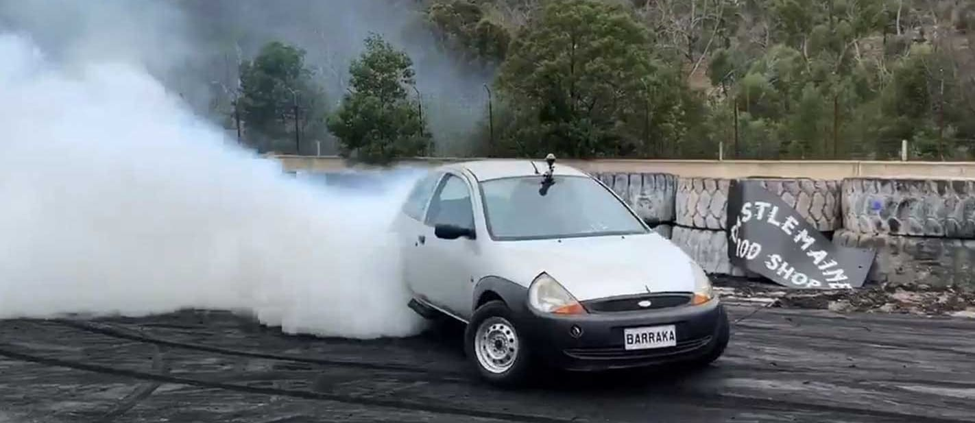 Ford Ka with Barra engine is wild