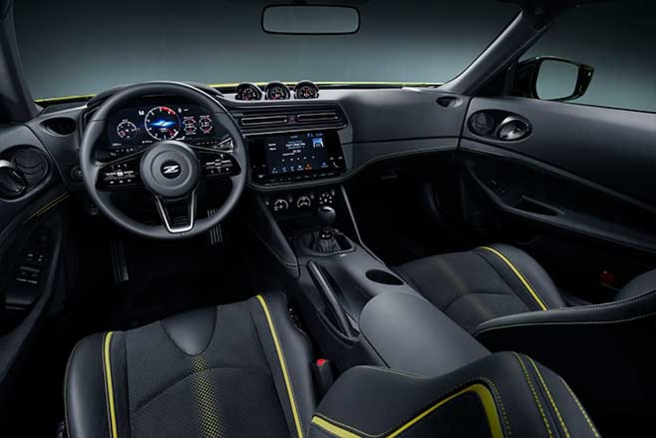 Nissan 400Z interior is a mix of classic touches with modern technology.