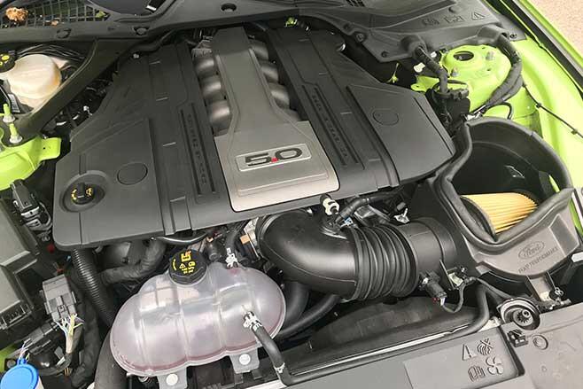 Mustang 5.0-litre V8 with bigger throttle body.
