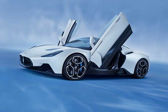 Maserati MC20 supercar with butterfly doors.