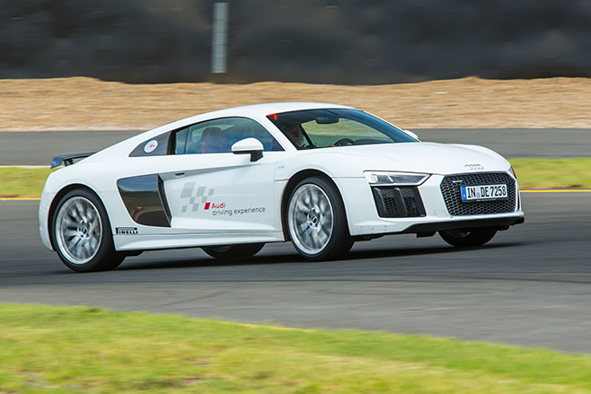 Audi -R8-driving -side-