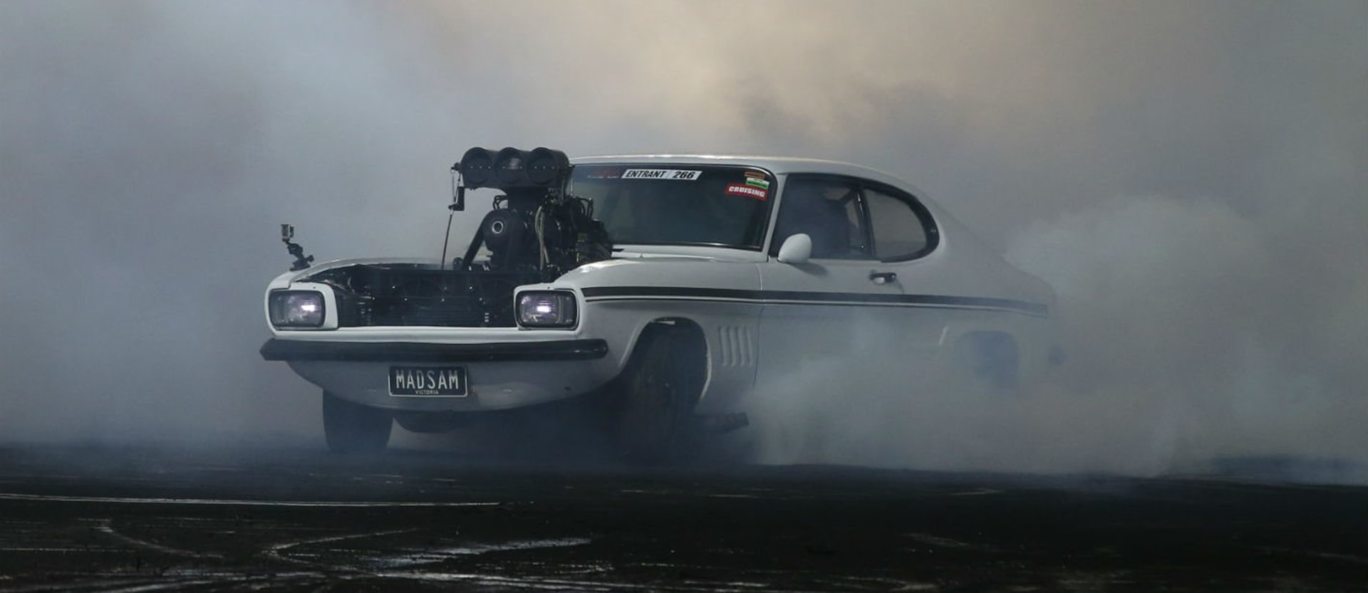 Ford Capri blown burnout MADSAM