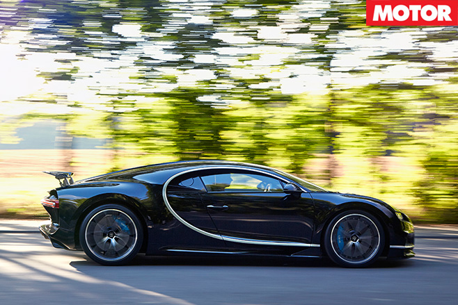 Bugatti Chiron side driving