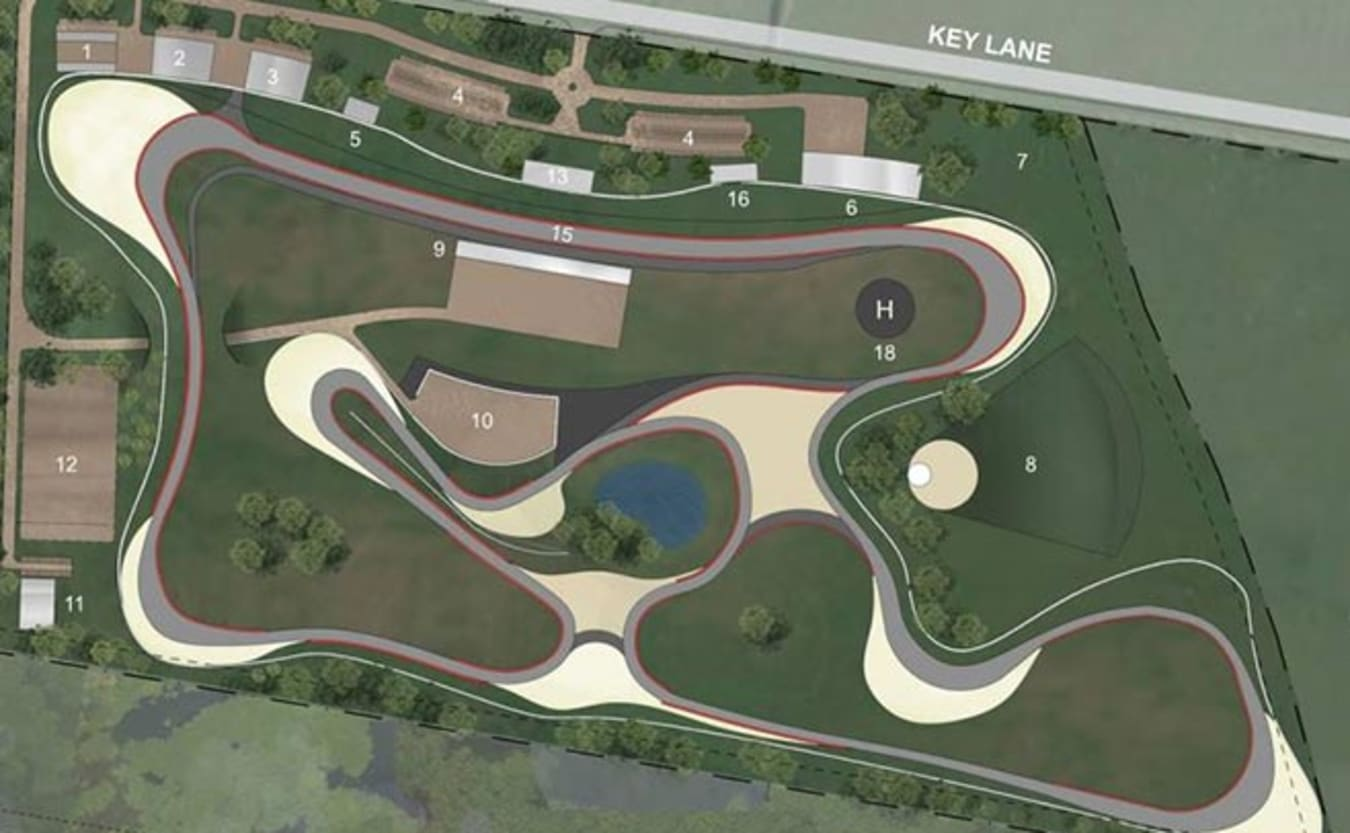 Cardinia Motor Recreation and Education Complex circuit map
