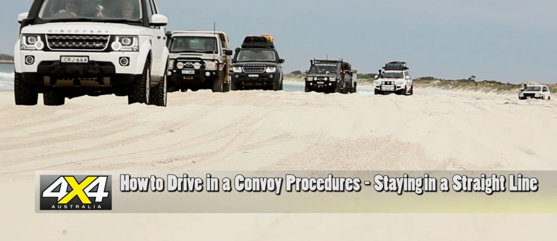 How to 4x4 in a convoy