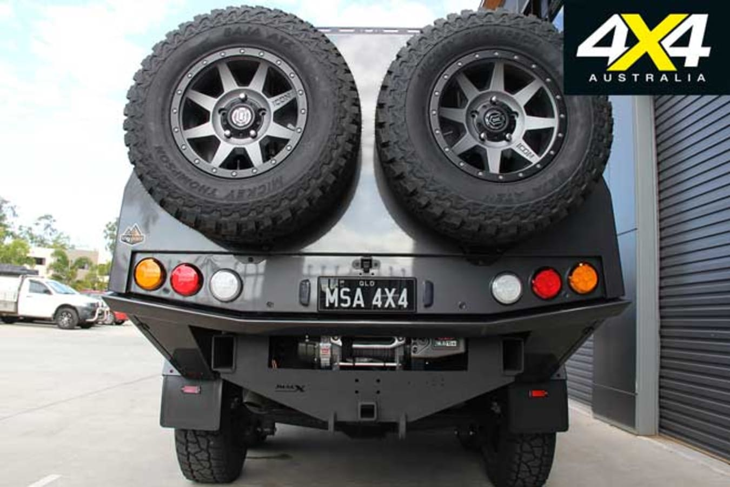 MSA 4 X 4 Custom Toyota LC 200 6 X 6 Project Super Crusier Spare Wheel Jpg