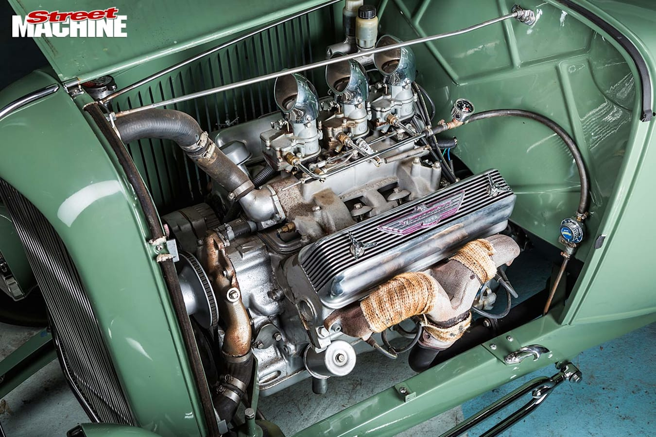 Ford 3-window coupe engine