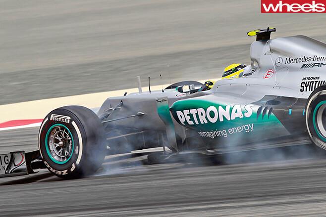 Formula -One -car -tyres -smoking