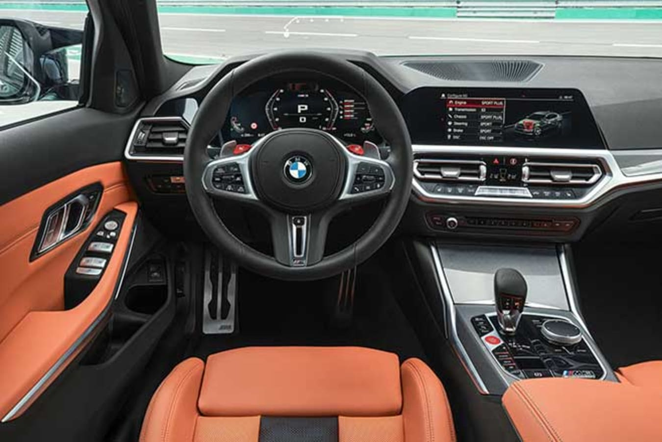 The 2021 BMW M3 interior features all of BMW's latest technology.