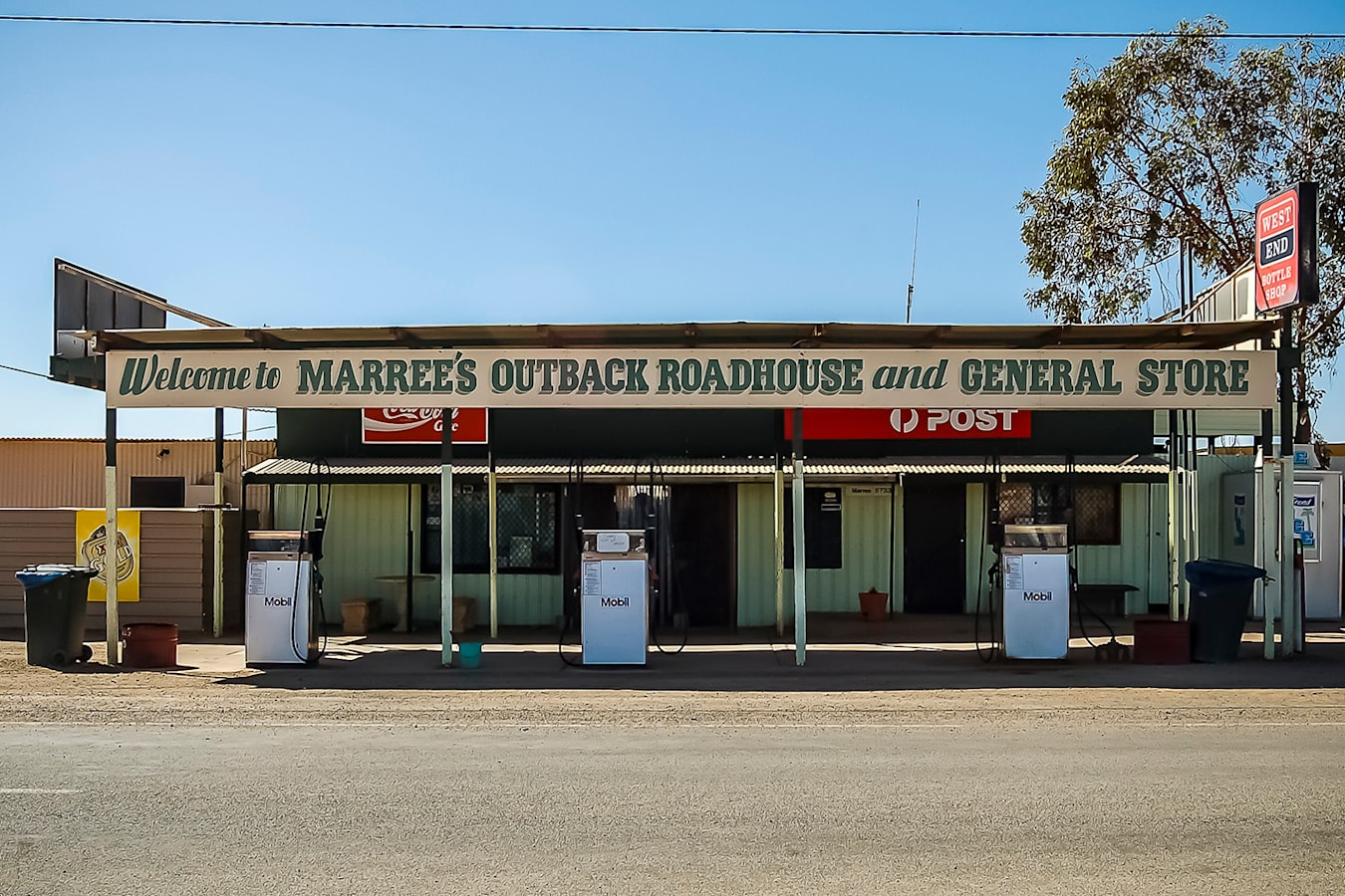 remote outback fuel station