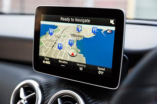 Mercedes-Benz A180 navigation