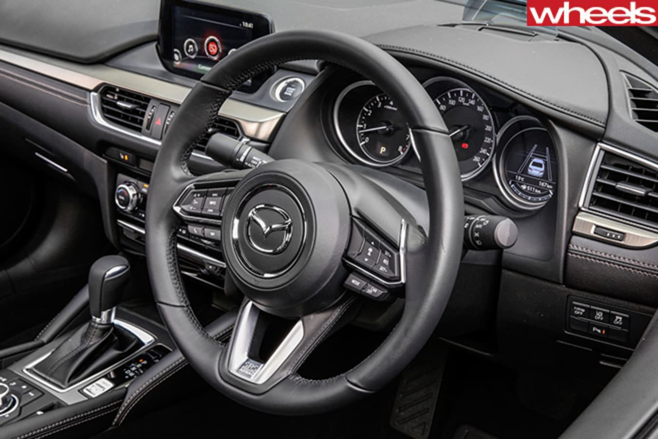 Mazda -6-driving -steering -wheel