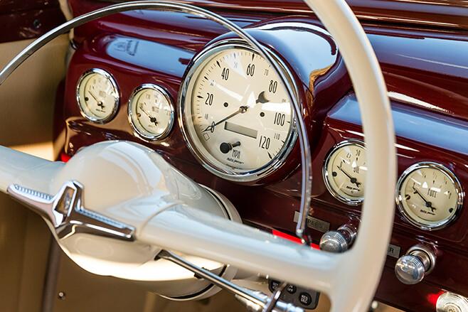 Mercury coupe dash