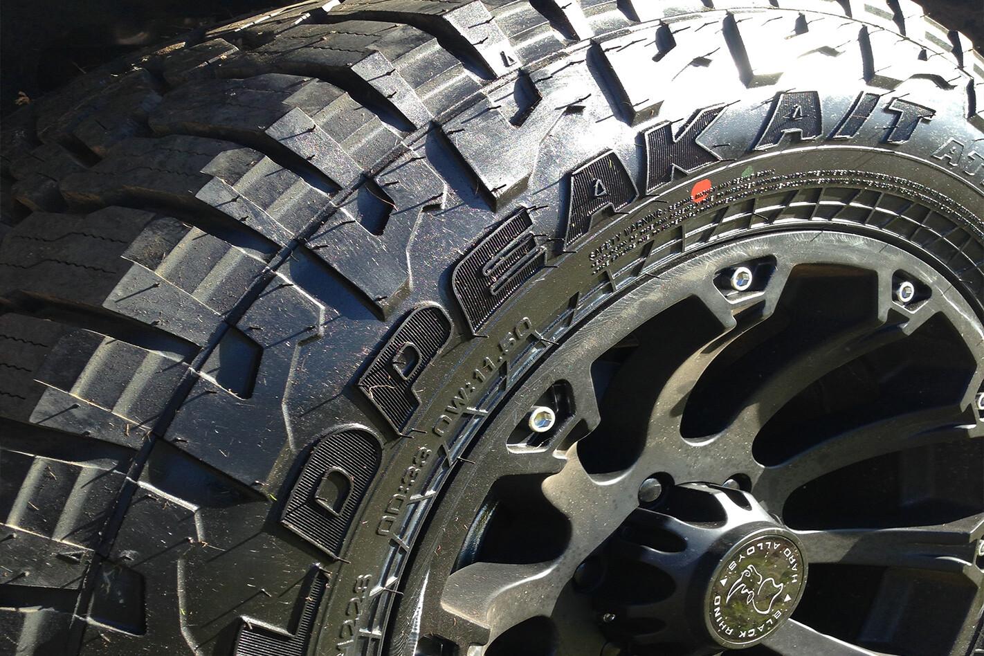 Rhino Rims on Falken Wildpeak AT3W tyres