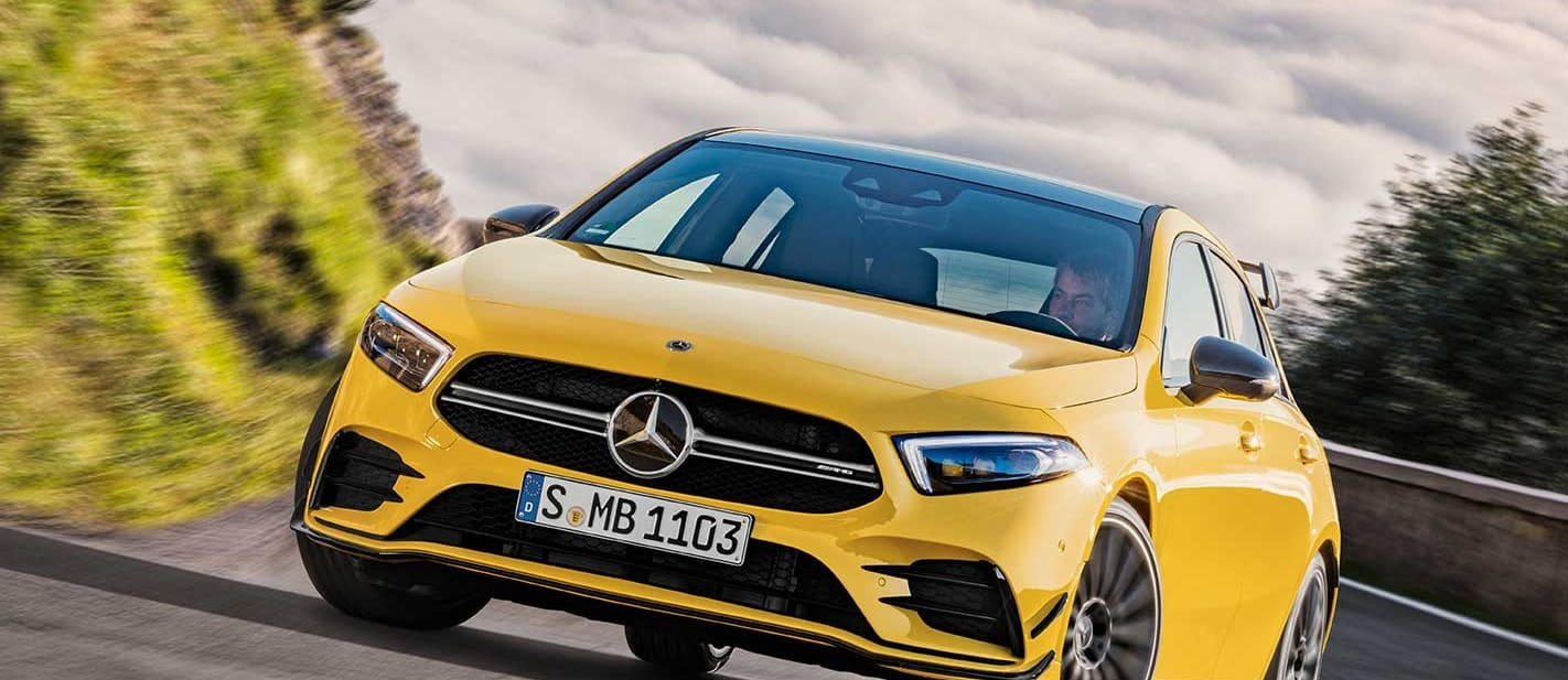 2019 Mercedes-AMG A35 benchmarked on original A45
