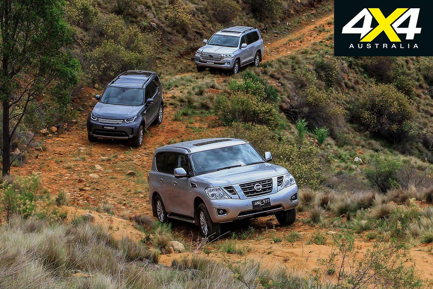 2018 Nissan Patrol Vs Land Rover Discovery Vs Toyota Land Cruiser 200 Series Comparison Jpg