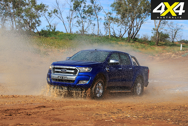 Ford Ranger receiving a wash