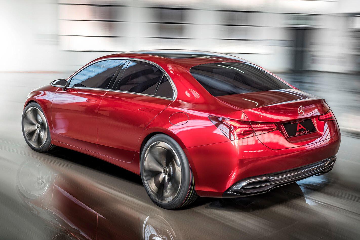 Mercedes Benz Concept A rear action