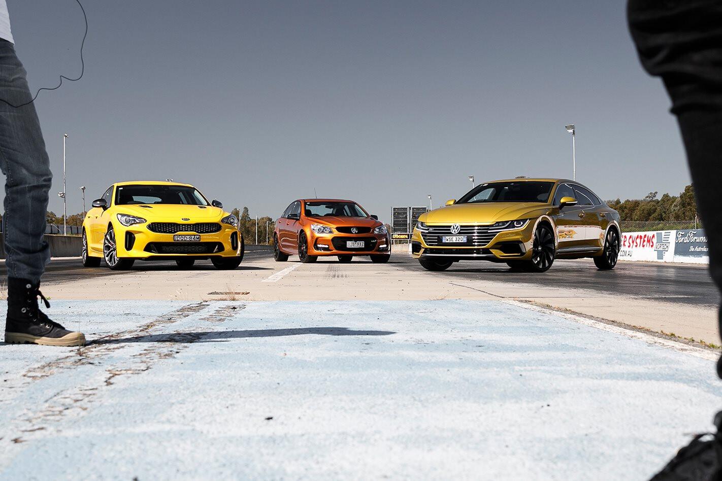 Video Volkswagen Arteon vs Kia Stinger vs Commodore SS-V