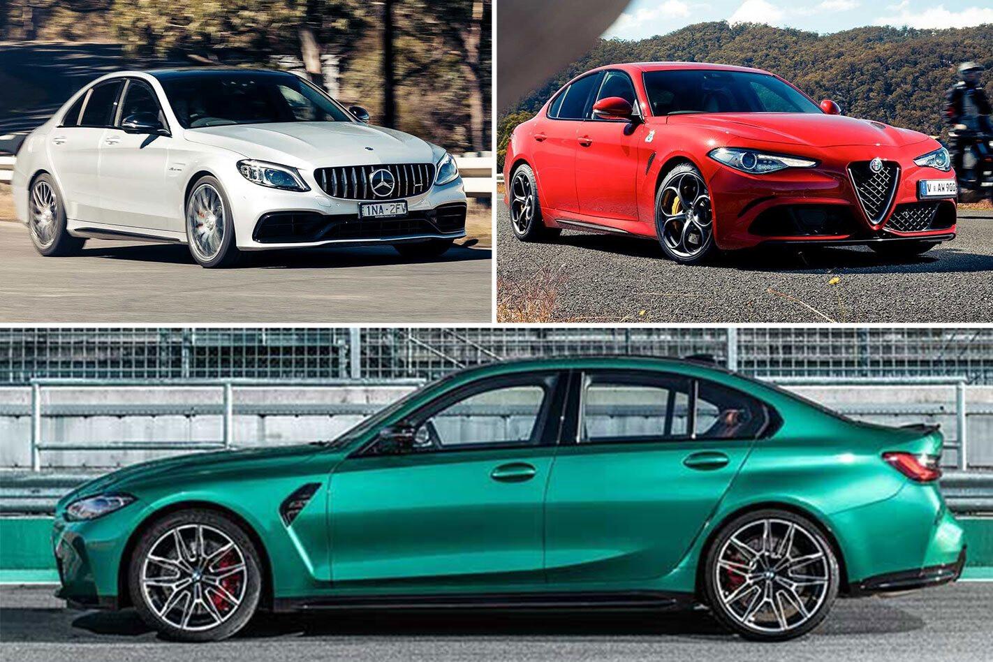 BMW M3 vs AMG C63 vs Alfa Romeo Giulia Q