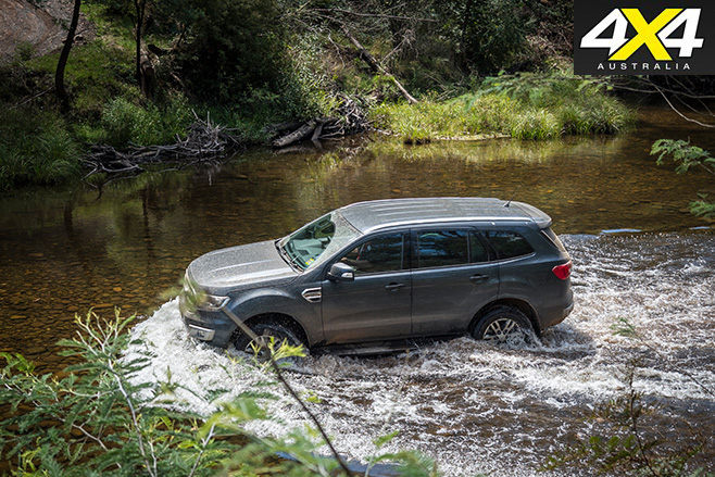 Ford everest off roading