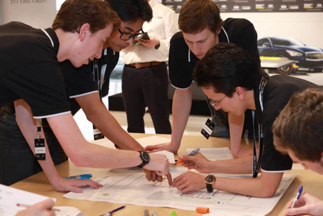 Engineers at Infiniti Academy