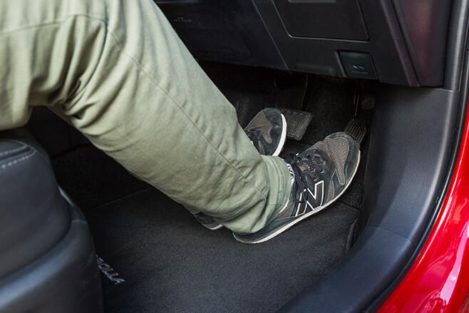 Left foot braking