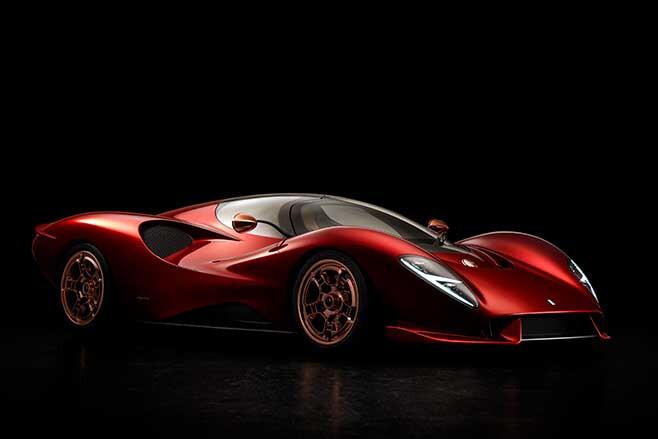 De Tomaso P72 Supercar in red