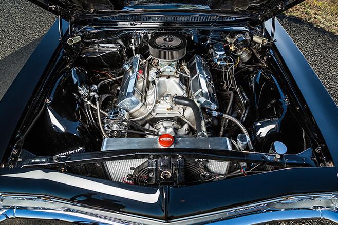 chev impala engine bay