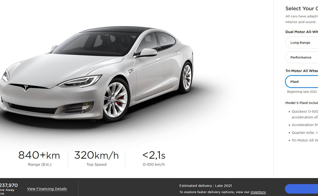 Fastest ever Tesla is on its way to Australia
