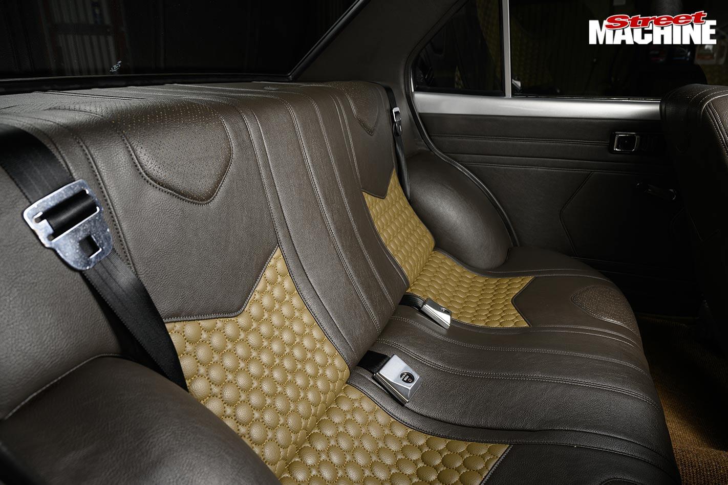 Toyota Corona SE rear seats