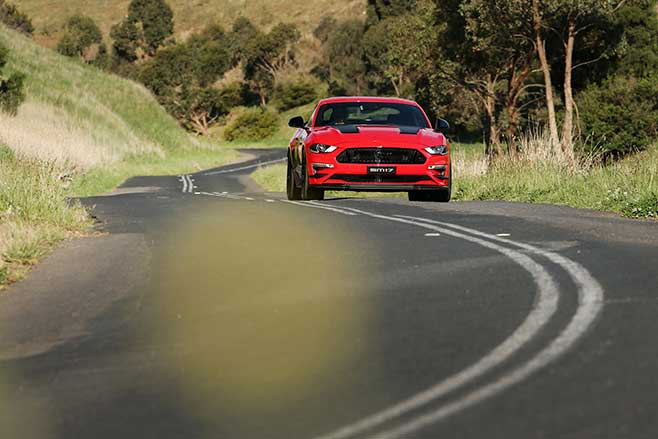 Herrod Performance Ford Mustang driving.