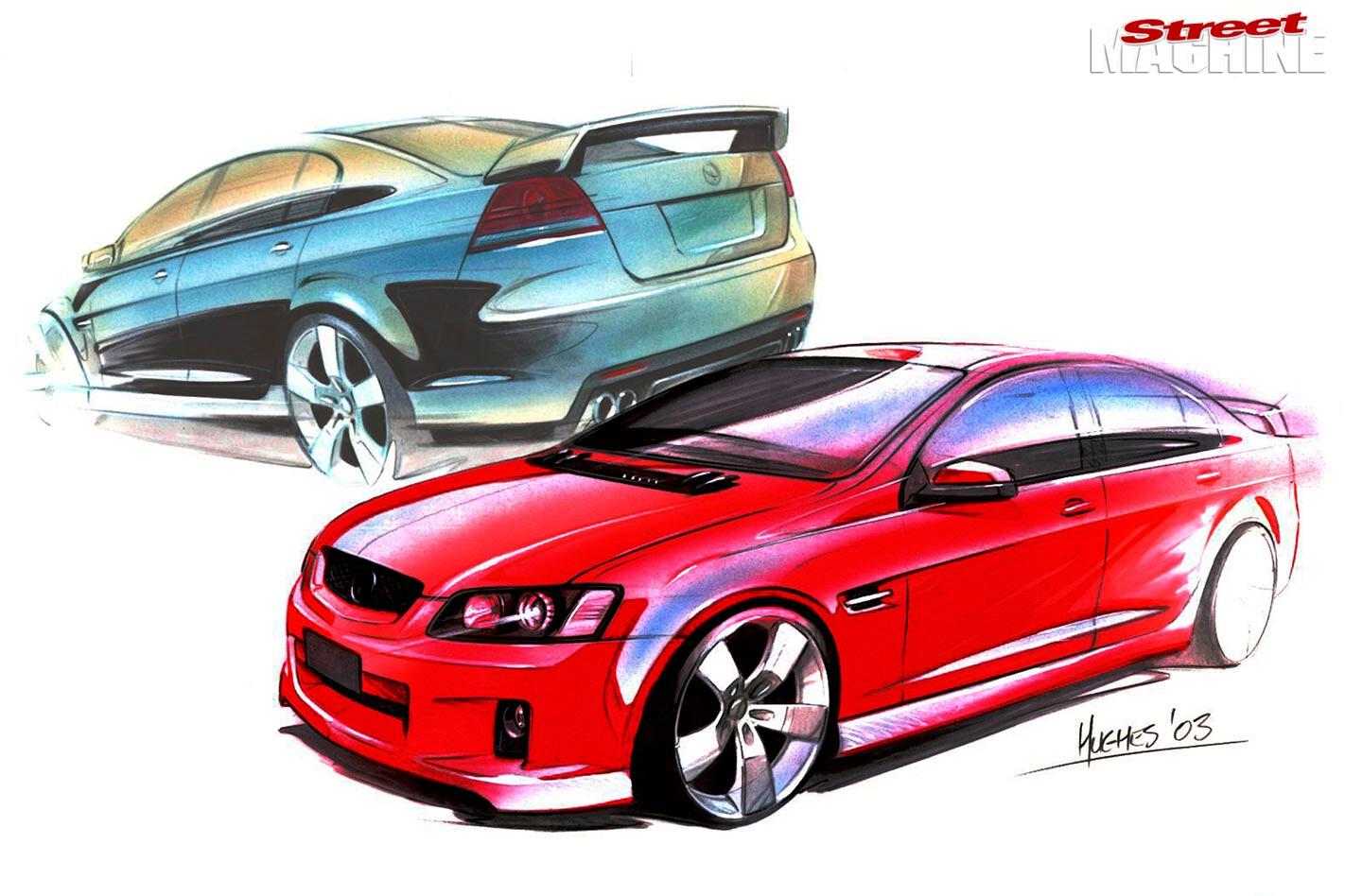 Holden Commodore sketch