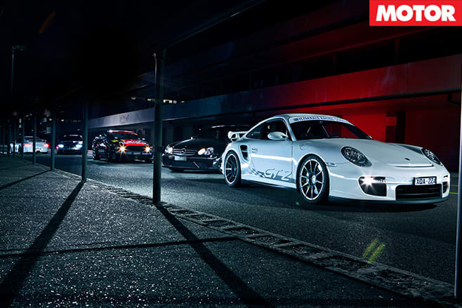 Porsche gt2 with others