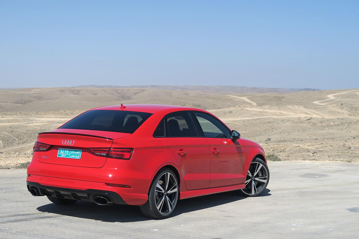 2017 Audi Rs 3 Sedan Fd Rear Side Static Desert Jpg