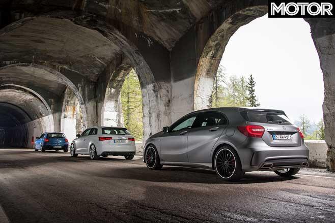 Audi S 3 Vs BMW M 135 I Vs Mercedes A 45 AMG Comparison Rear Jpg