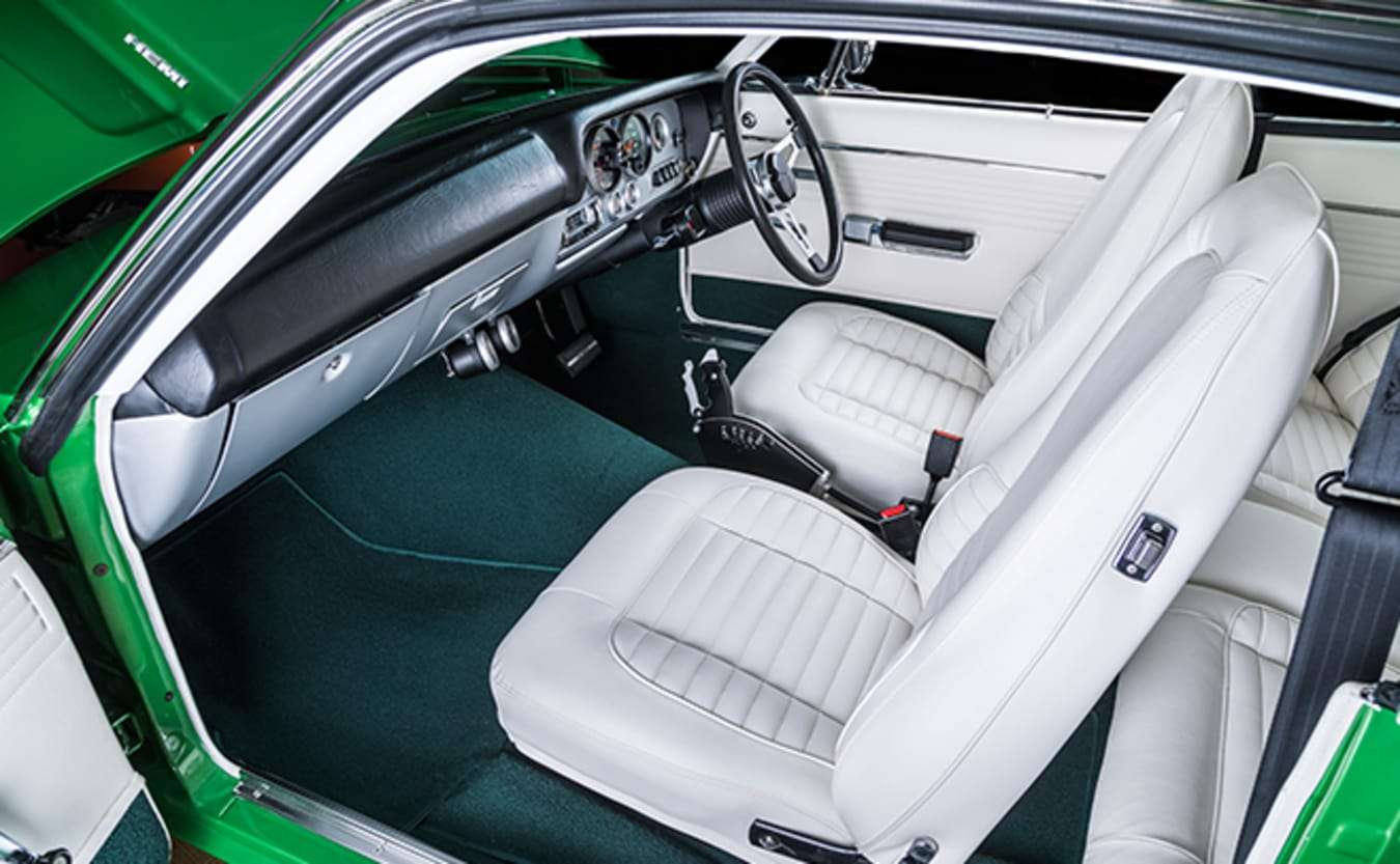 Valiant VH Charger interior front