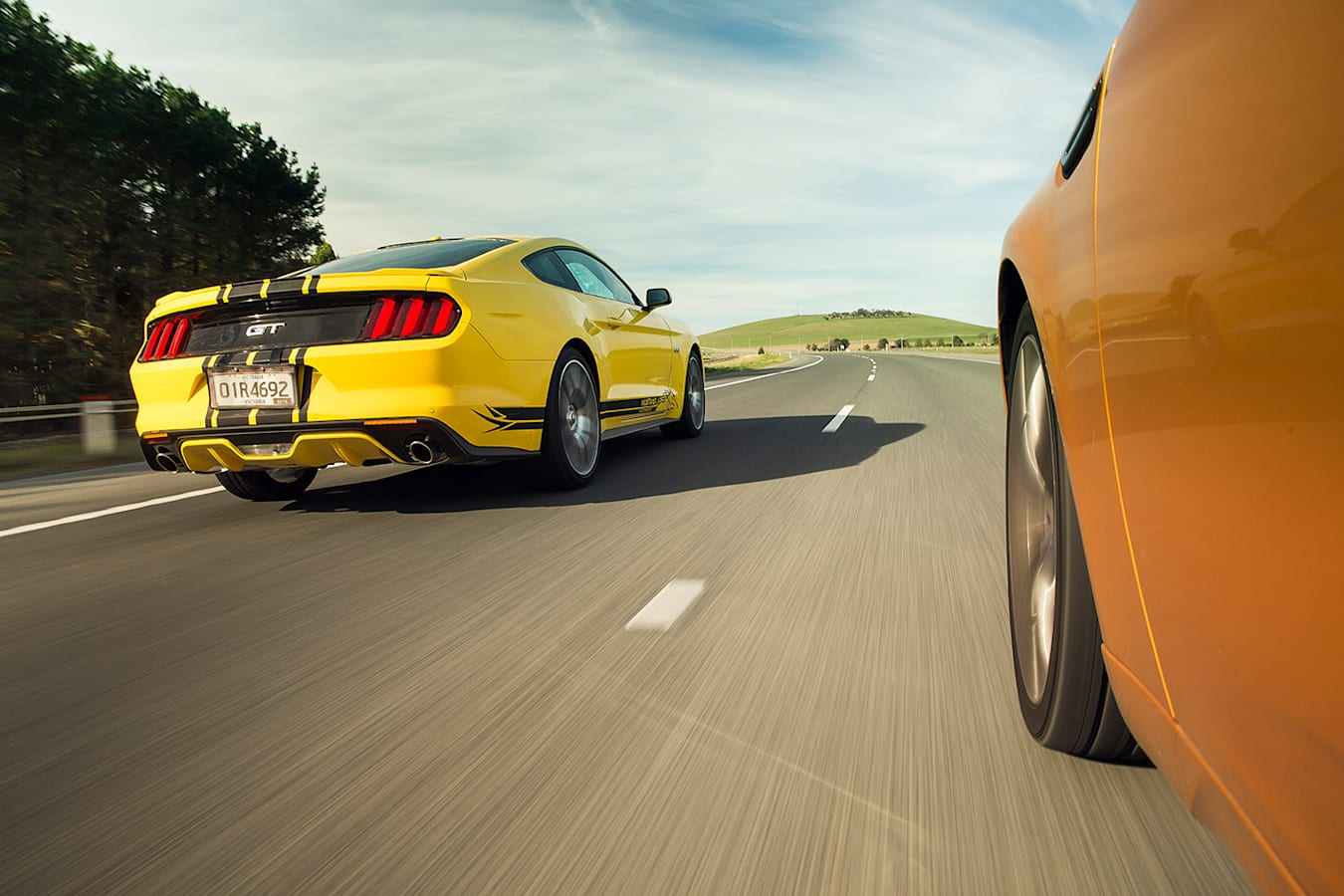 Ford Mustang vs. Falcon XR8