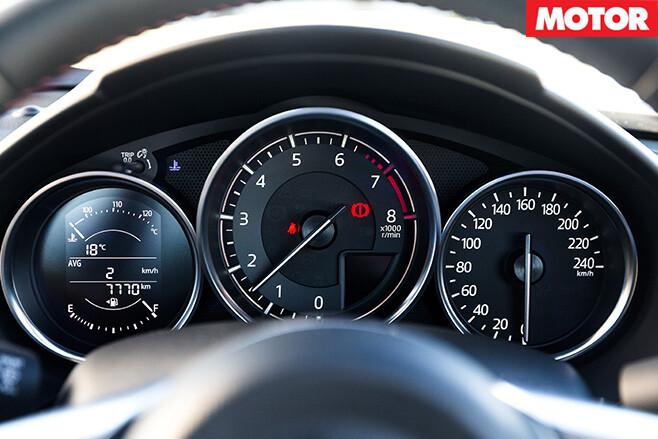 Mazda mx-5 dash display