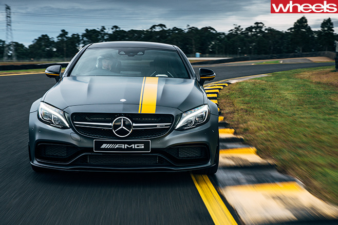 Mercedes -AMG-C63-front -driving